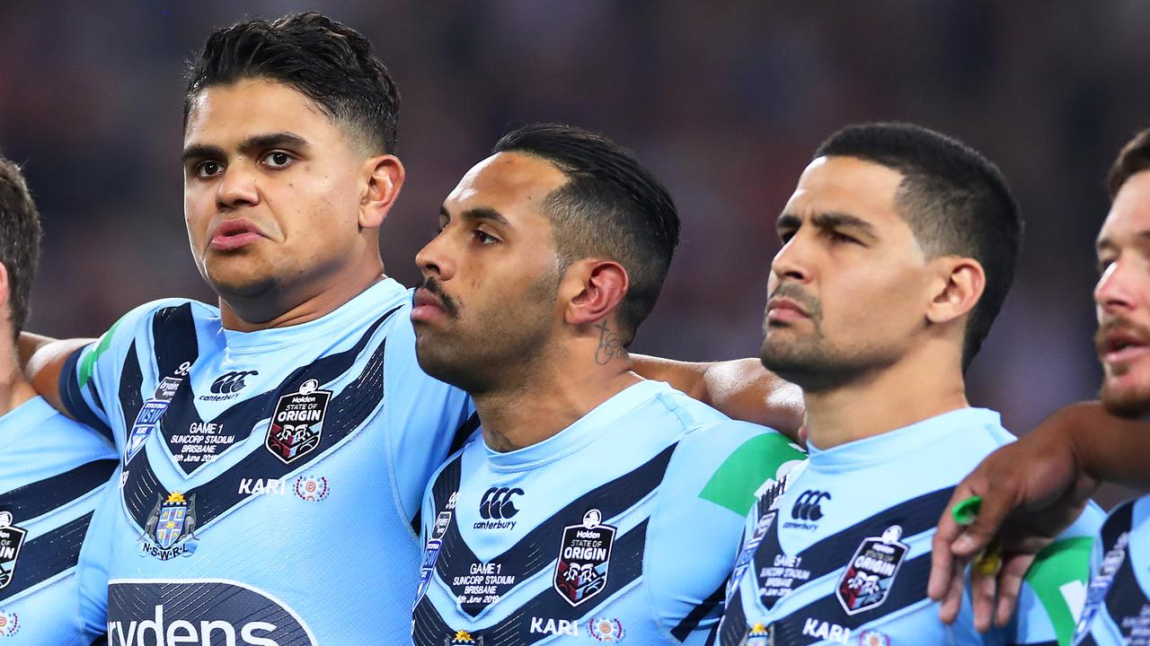 Latrell Mitchell (left) and Cody Walker (right) were axed from the NSW team for game two.