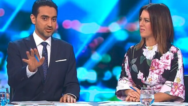 Look how distressed is Waleed's co-host
