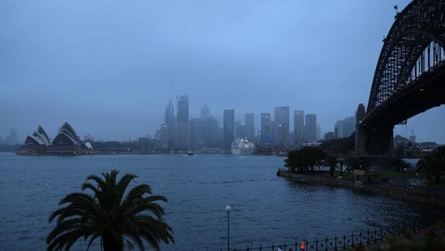 Showers persist over Sydney. Picture: John Grainger