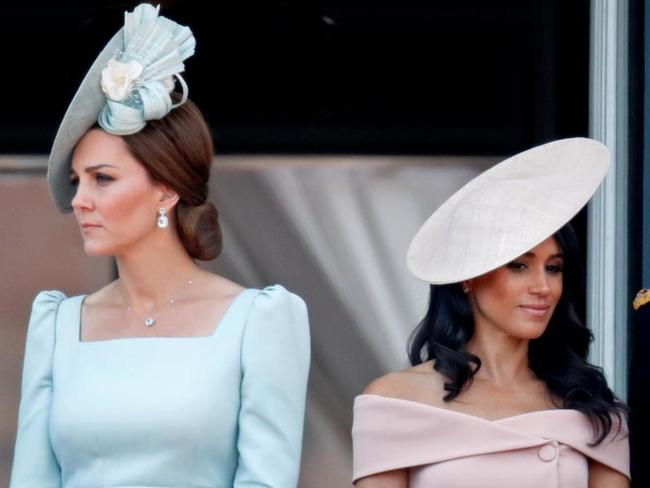 Tension … Kate Middleton and Meghan Markle.