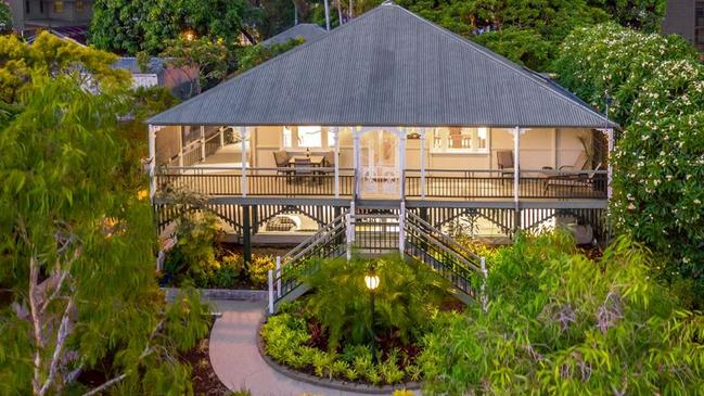 This house at 100 Henderson St, Bulimba, is for sale.
