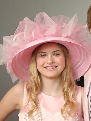 Dannielynn Birkhead donned the same hat her late mum wore to the Derby in 2004.