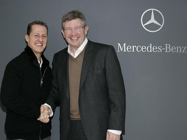 Schumacher returned to F1 with Mercedes in 2010.