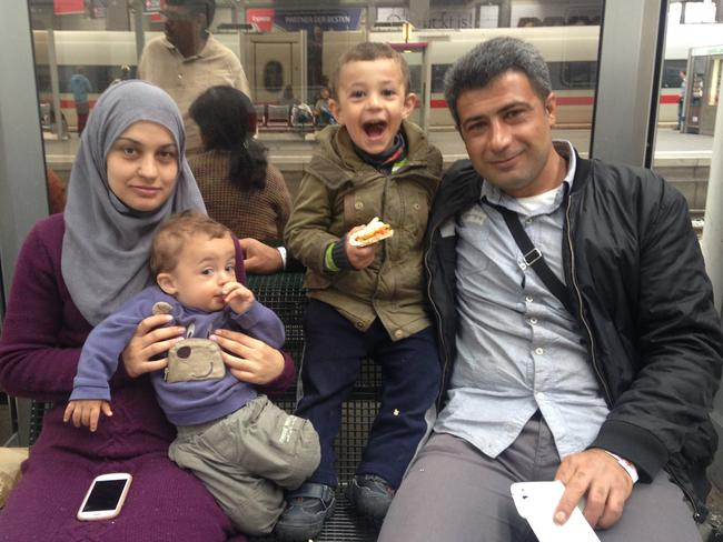 A recently arrived family from Syria.