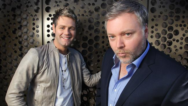 Kyle Sandilands and Brian McFadden back when they were good mates.