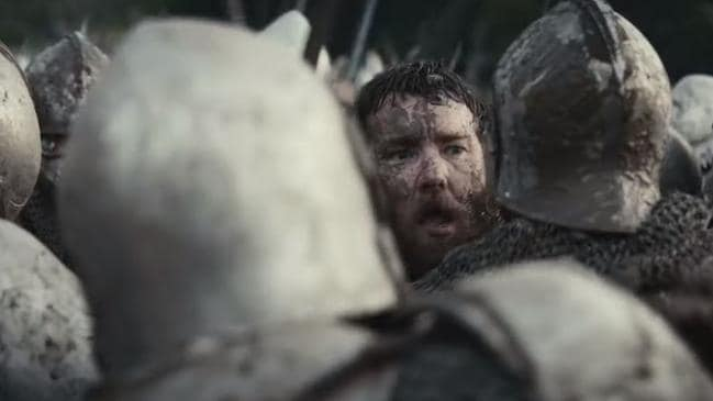 In a muddy moment, in the chaos of battle, Edgerton was terrified a horse was going to fall on him