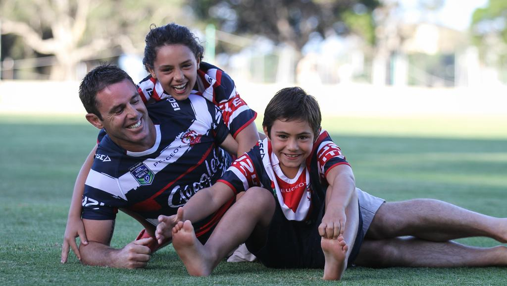 Brad Fittler with his son and daughter