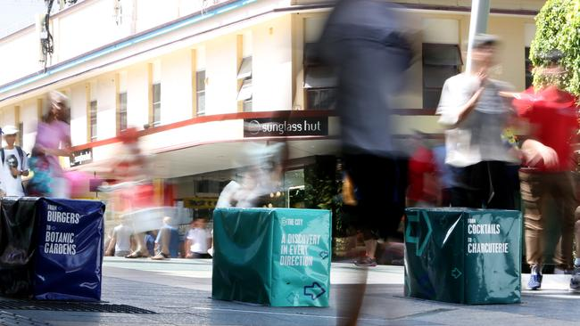 Brisbane has spent more than $50,000 on concrete blocks. Picture: AAP/Steve Pohlner