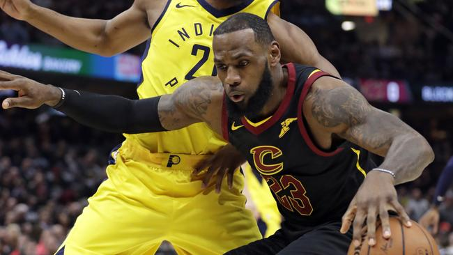 bb4181fece1d NBA Playoffs 2018  LeBron James  Cavaliers def. Pacers score