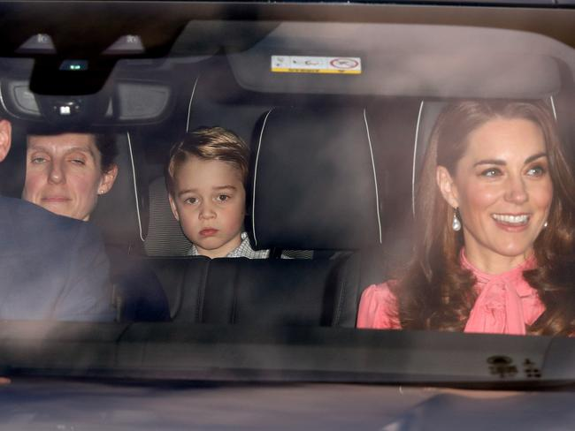 Maria travelling with George, Kate and Wills. Picture: Max Mumby/Indigo/Getty Images