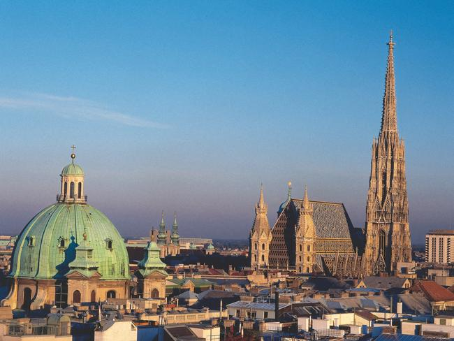 The rigged-up ATM was located near St Stephen's Cathedral in Vienna.