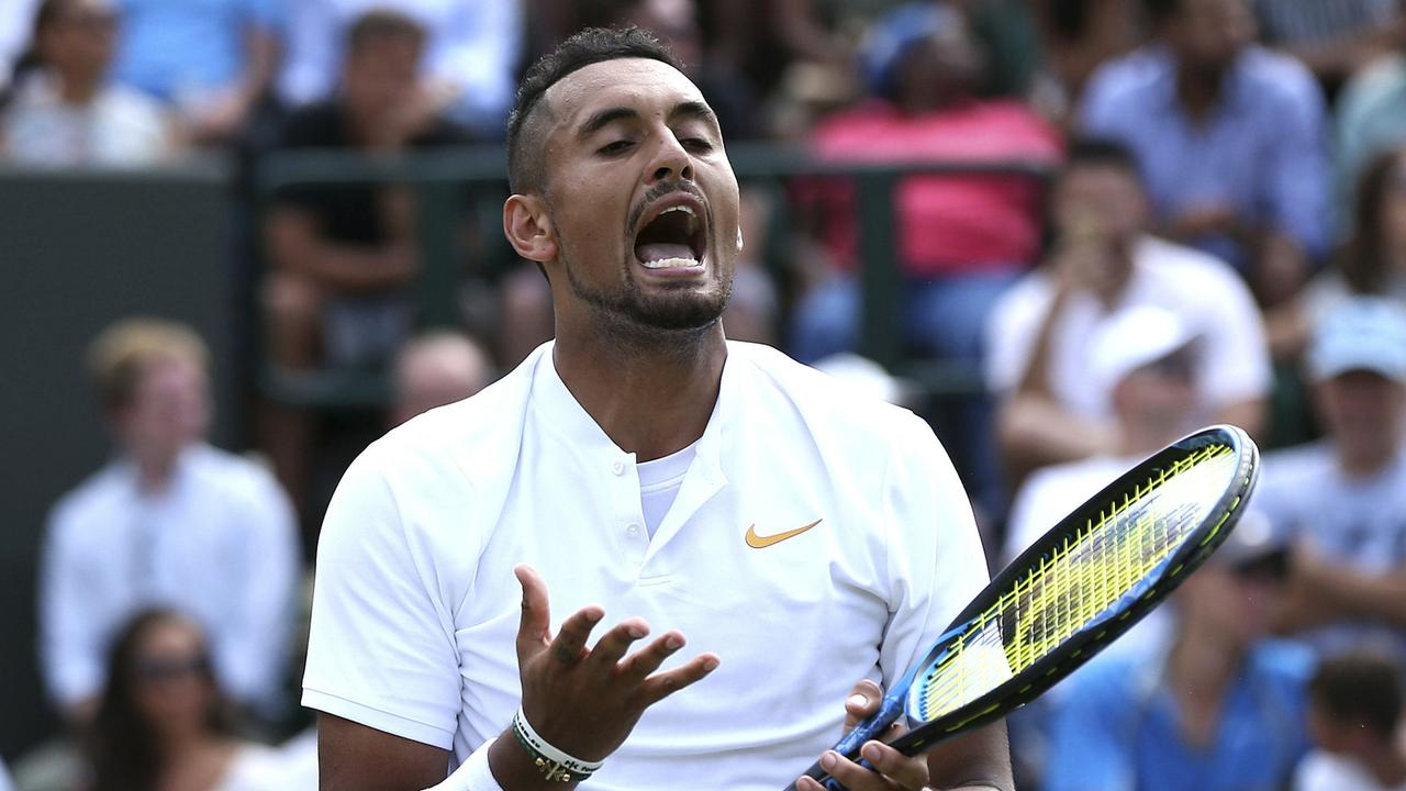 Nick Kyrgios during his second round Wimbledon win.