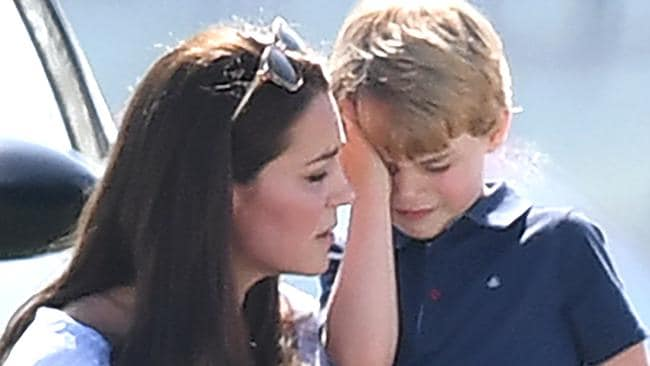 The Duchess of Cambridge with Prince George. Picture: Mega