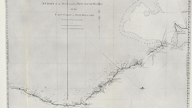 Captain Cook's map of Australia's east coast, the whole of which he named New South Wales.