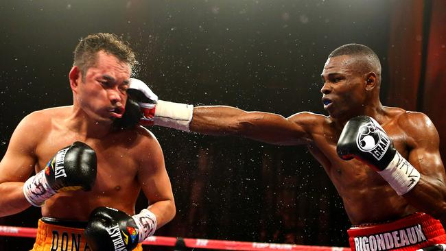 Guillermo Rigondeaux (right) punches Nonito Donaire during their 2013 bout in New York.