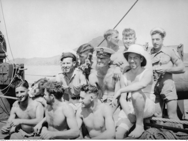 A group of crew members on board the HMAS Armidale. Picture: AWM 300191