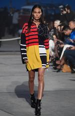 Model Joan Smalls walks the runway at the TommyLand Tommy Hilfiger Spring 2017 Fashion Show on February 8, 2017 in Venice, California. Picture: Getty