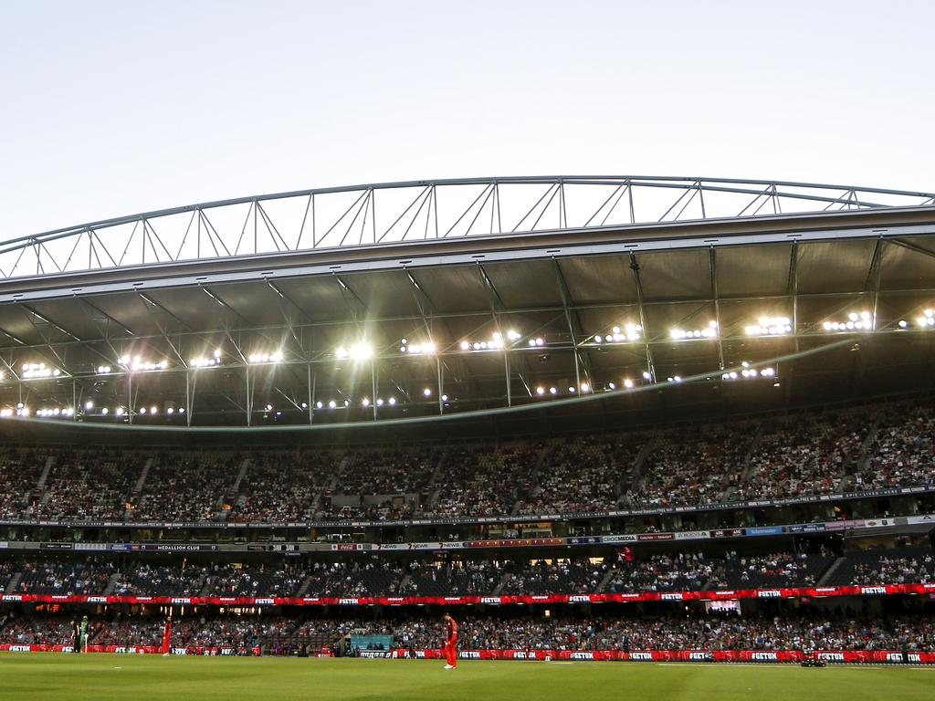 MELBOURNE, AUSTRALIA - JANUARY 19: A general view during the Big Bash League match between the Melbourne Renegades and the Melbourne Stars at Marvel Stadium on January 19, 2019 in Melbourne, Australia. (Photo by Dylan Burns/Getty Images)