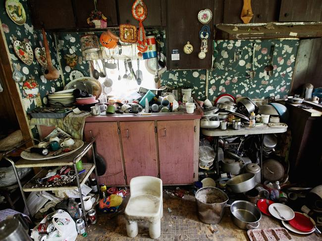 Former chimney sweeper Mose Noble's kitchen in Owsley County, Kentucky is not alone in having no electricity or running water. Picture: Mario Tama/Getty Images