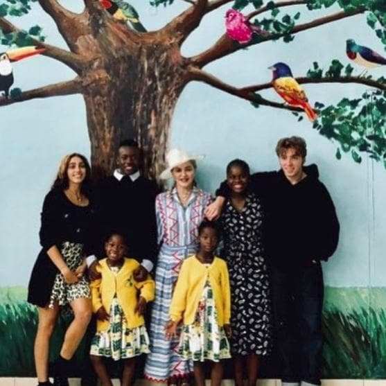 Madonna and her children.