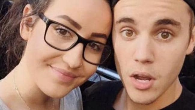 Justin Bieber taking a selfie with a fan while in Sydney for a Hillsong conference.