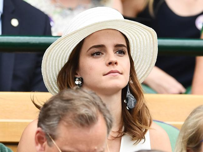 Actress Emma Watson was also at Wimbledon. Picture: Clive Mason/Getty Images.