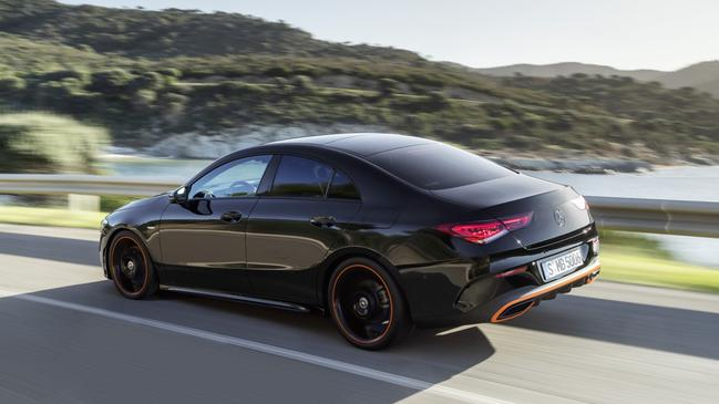 The Mercedes-Benz CLA is based on the A-Class hatch.