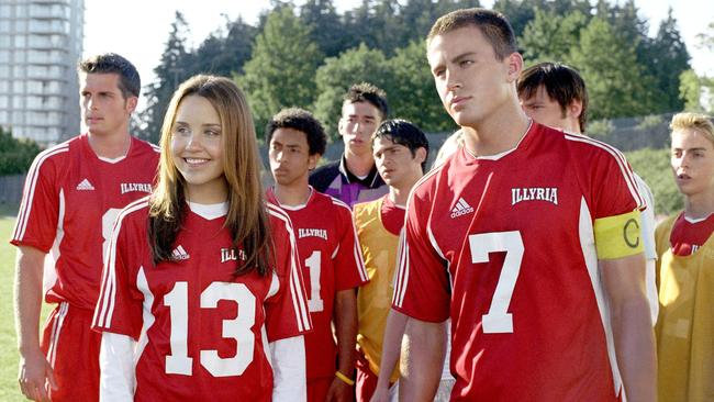 Amanda Bynes with Channing Tatum in She's The Man.