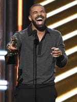 "Drake accepts the award for top Billboard 200 album for ""Views"" at the Billboard Music Awards at the T-Mobile Arena on Sunday, May 21, 2017, in Las Vegas. Picture: AP"