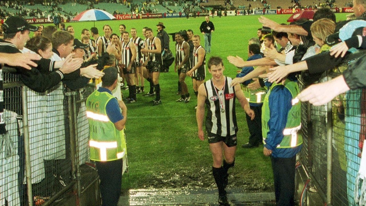 The Magpies let Mark McGough walk off the MCG first after being best on ground in the 2002 Anzac Day game.