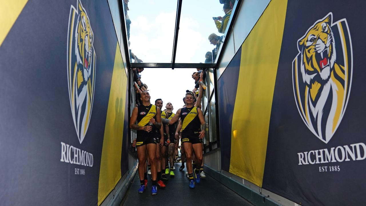 The Tigers depart the MCG on Saturday after beating Port Adelaide.