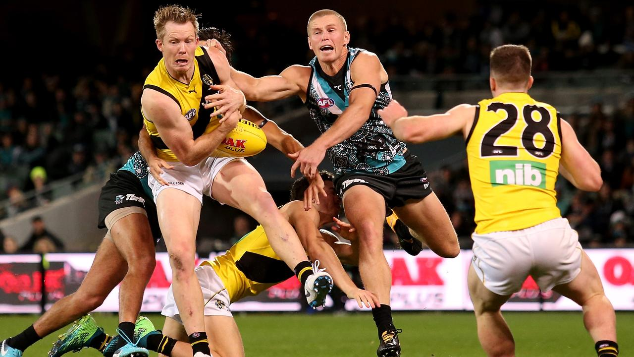 Jack Riewoldt is backing zones. Photo: James Elsby/AFL Media/Getty Images