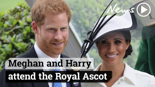 Meghan and Harry attend the Royal Ascot