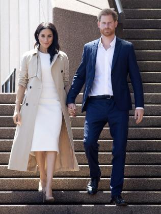 Meghan and Harry at the Opera House yesterday. (Paul Edwards/Pool via AP)
