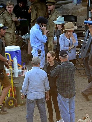 Angelina Jolie on location in Sydney for the filming of Unbroken. Pic: Jeremy Piper