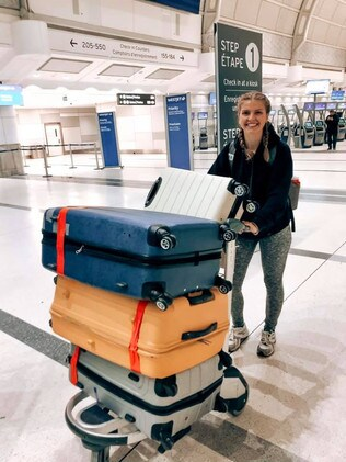 Kelsey Trimble brought three suitcases full of donations.