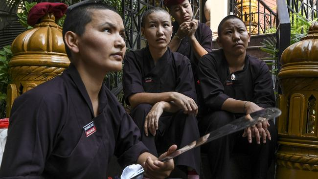 The kung fu nuns use their martial arts skills to challenge stereotypes about women's roles in the region's patriarchal societies.