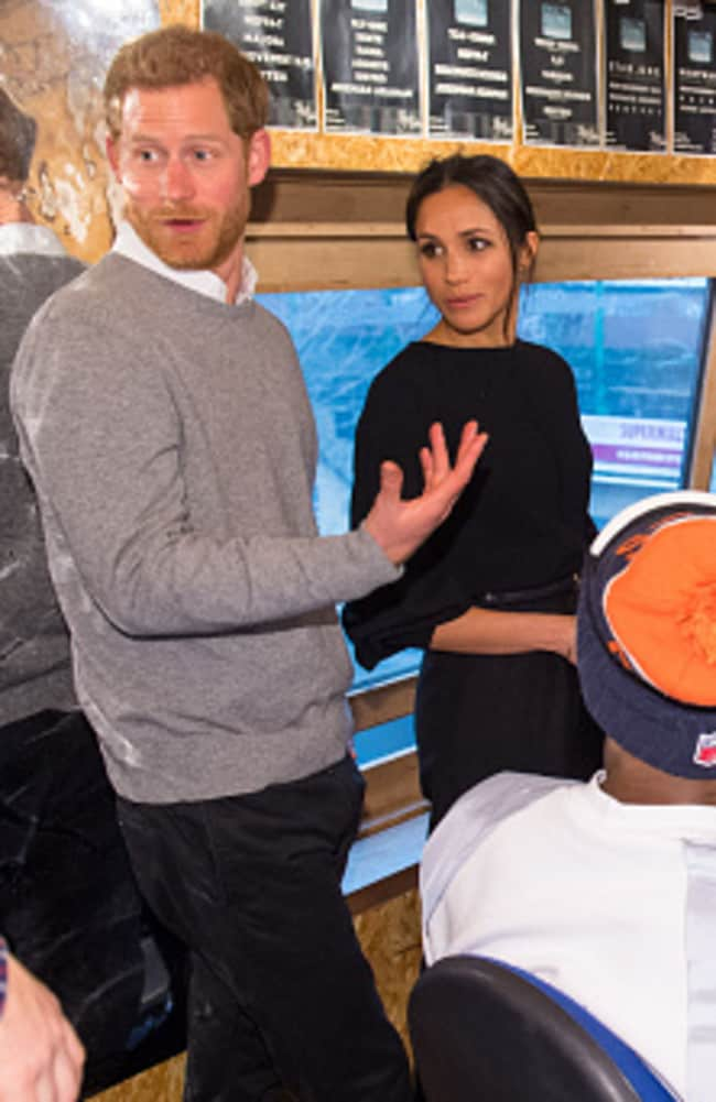 Meghan wore a $80 jumper while visiting Reprezent 107.3FM in Pop Brixton in January. Picture: Dominic Lipinski — WPA Pool/Getty Images