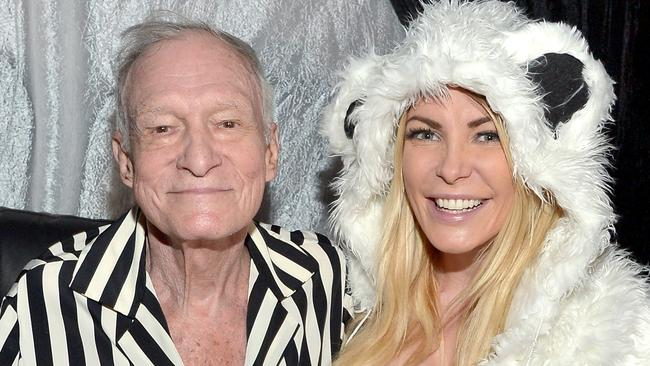 Hugh Hefner and his runaway bride. Picture: Charley Gallay/Getty