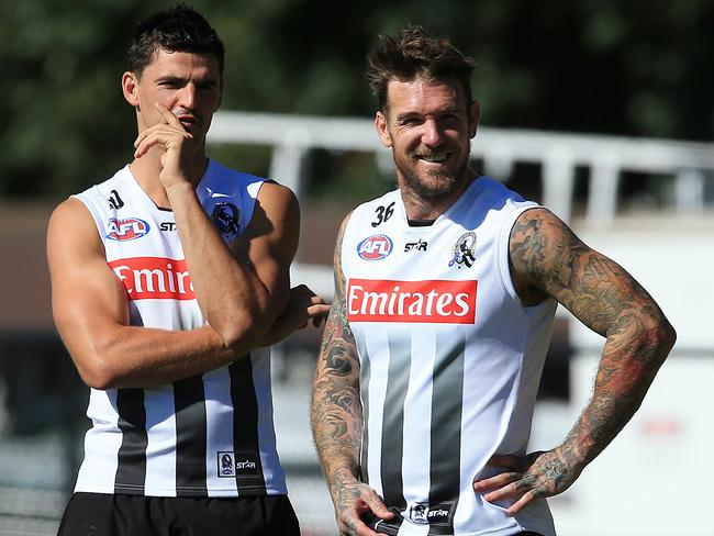 Scott Pendlebury and Dane Swan were a dynamic duo. Picture: Wayne Ludbey