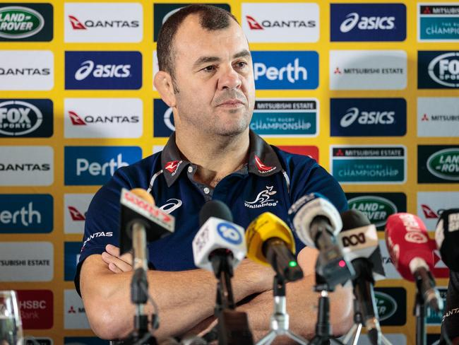 Wallabies coach Michael Cheika was all business.