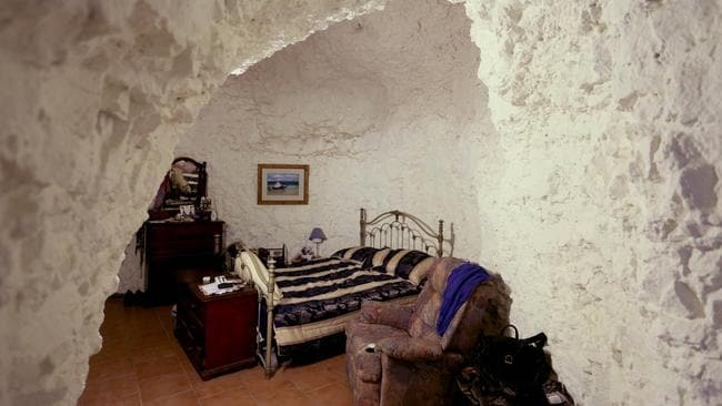 Mal's cosy underground bedroom at his nearby home. Pic: Grant Turner / Mediakoo.com