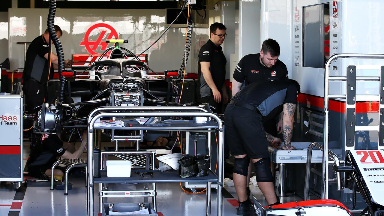 The Haas F1 team has four staff self-isolating amid virus fears.