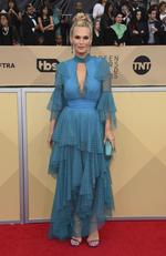 Molly Sims arrives at the 24th annual Screen Actors Guild Awards at the Shrine Auditorium Expo Hall on Sunday, Jan. 21, 2018, in Los Angeles. Picture: Jordan Strauss/Invision/AP
