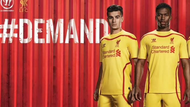 Liverpool players will be hard to miss when they play away thanks to their yellow kit.  <b>Third</b> <b></b>