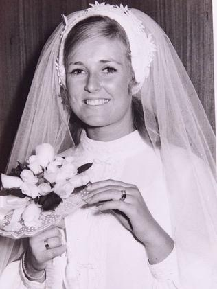 Lyn Dawson on her wedding day.