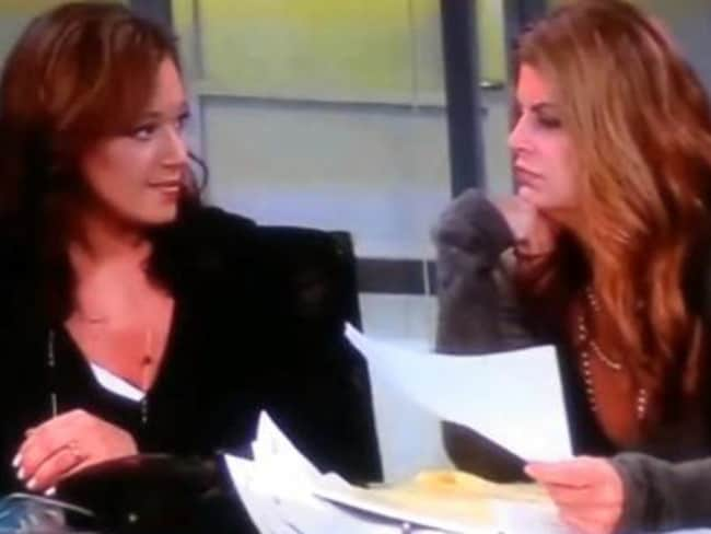 Not friendly ... Leah Remini and Kirstie Alley have fallen out since the former's departure from the church. Picture: Supplied