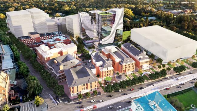 Plans for the Lot Fourteen site, formerly the location of the old Royal Adelaide Hospital.