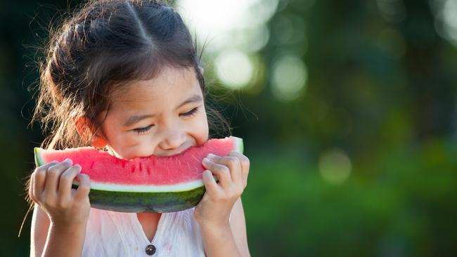 Watermelon is the perfect, post-beach snack.