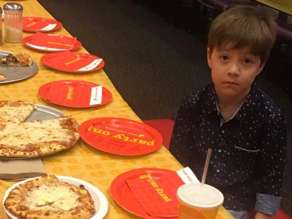 Little Teddy invited 32 other kids to his party ... but no one showed up.